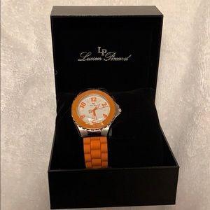 Brand New Orange Women's Lucien Piccard Watch
